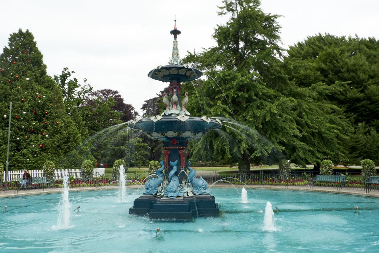 Fountain at Christchurch Botanical Garden.