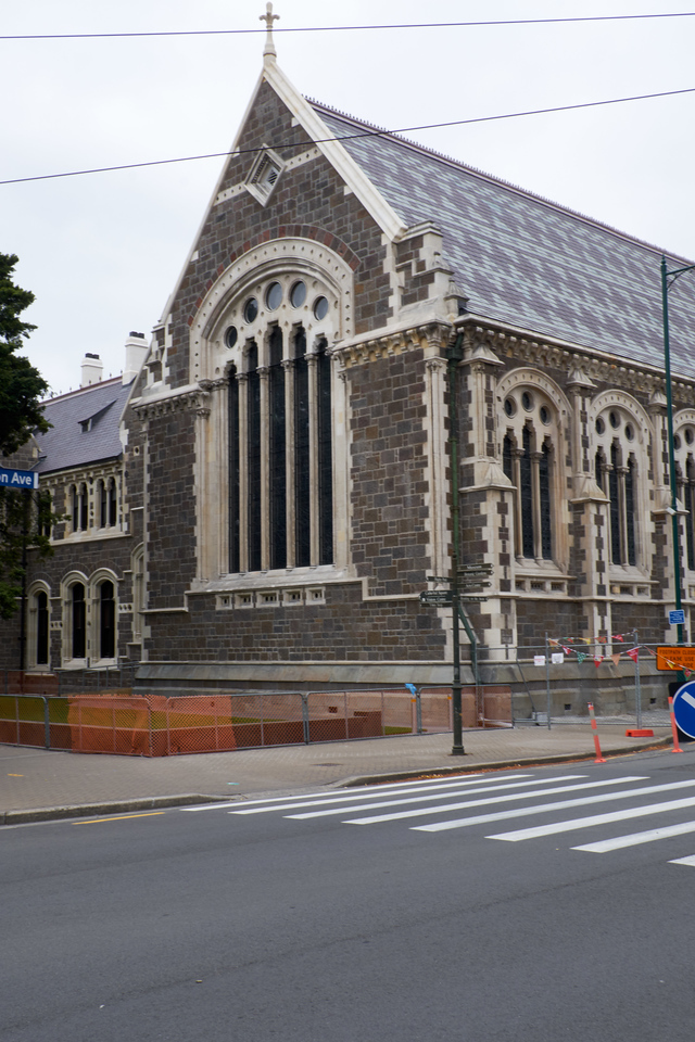 This used to be Christchurch University. After the earthquake it became a facility for artists.