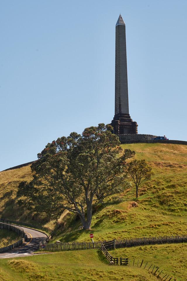 View Toward Maori Obelisk at One Tree Hill.