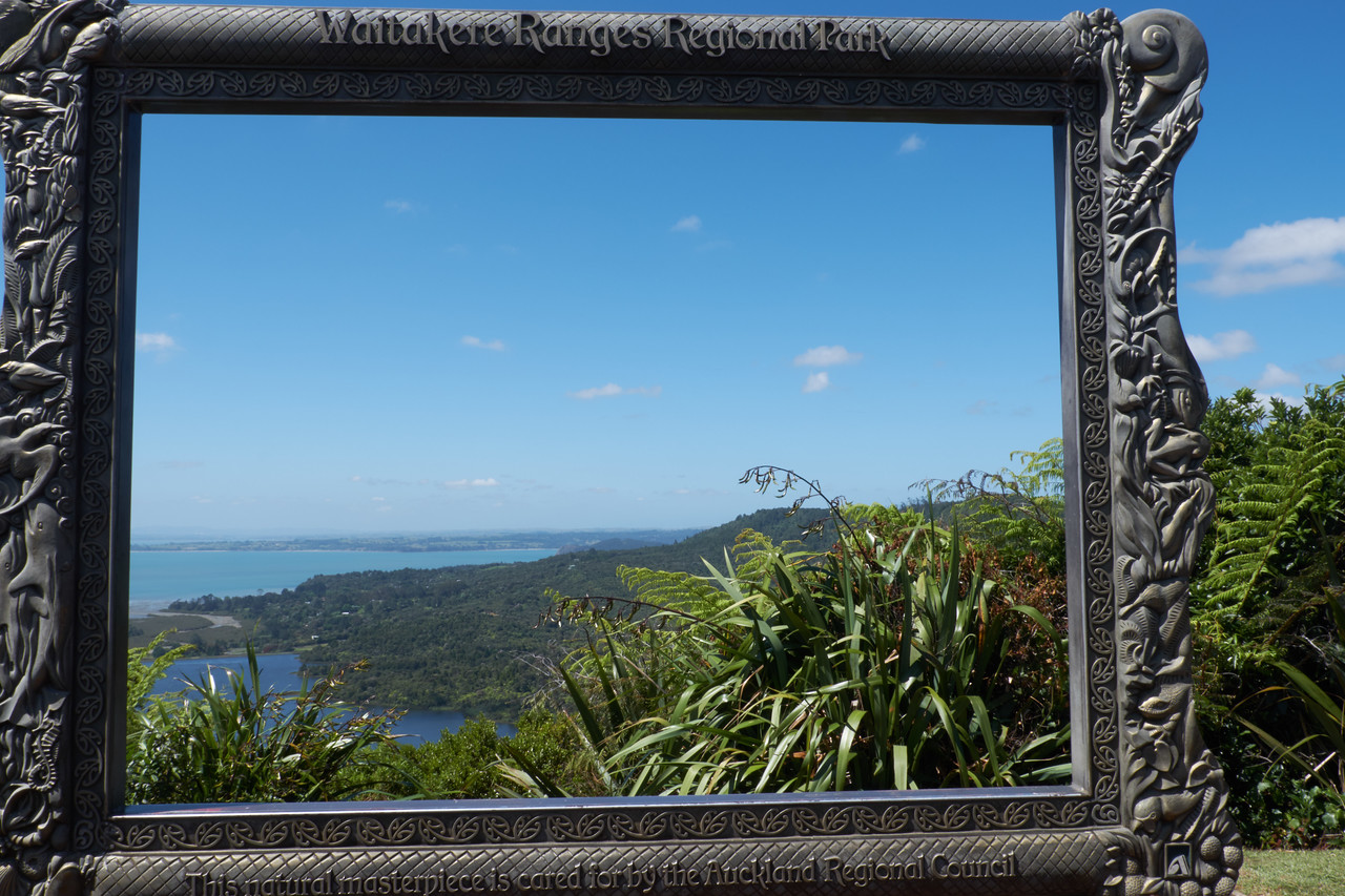 View to the South of the Manukau Harbour and beyond.
