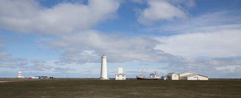 Garður old and new Garðskagi lighthouse