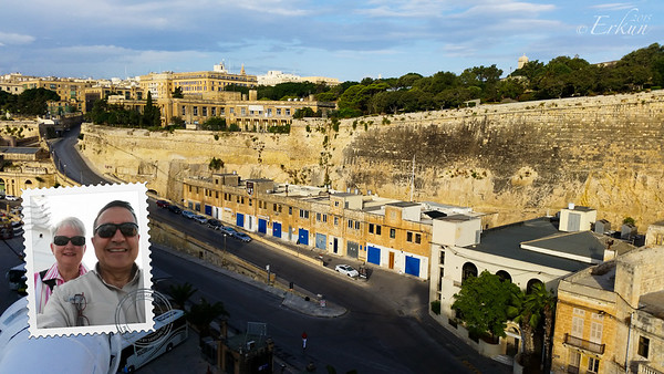 Valletta - City Walls from the ship.