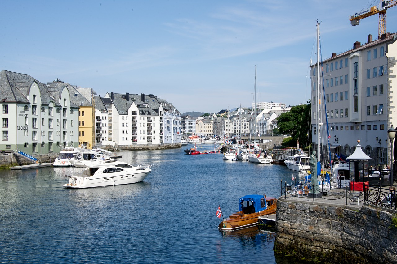 View of Alesund Canal
