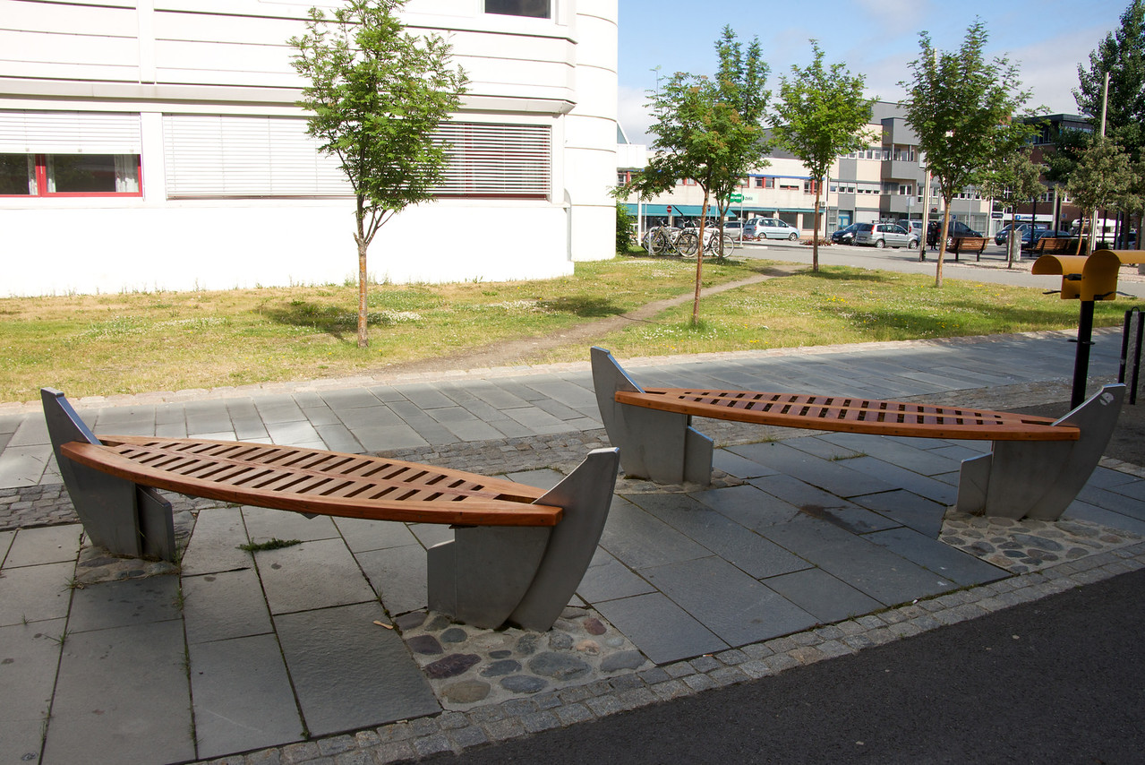 Benches Built Like Viking Ships