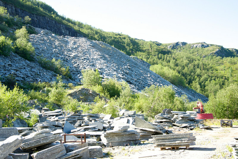 Slate Quarry at Top of The Hill