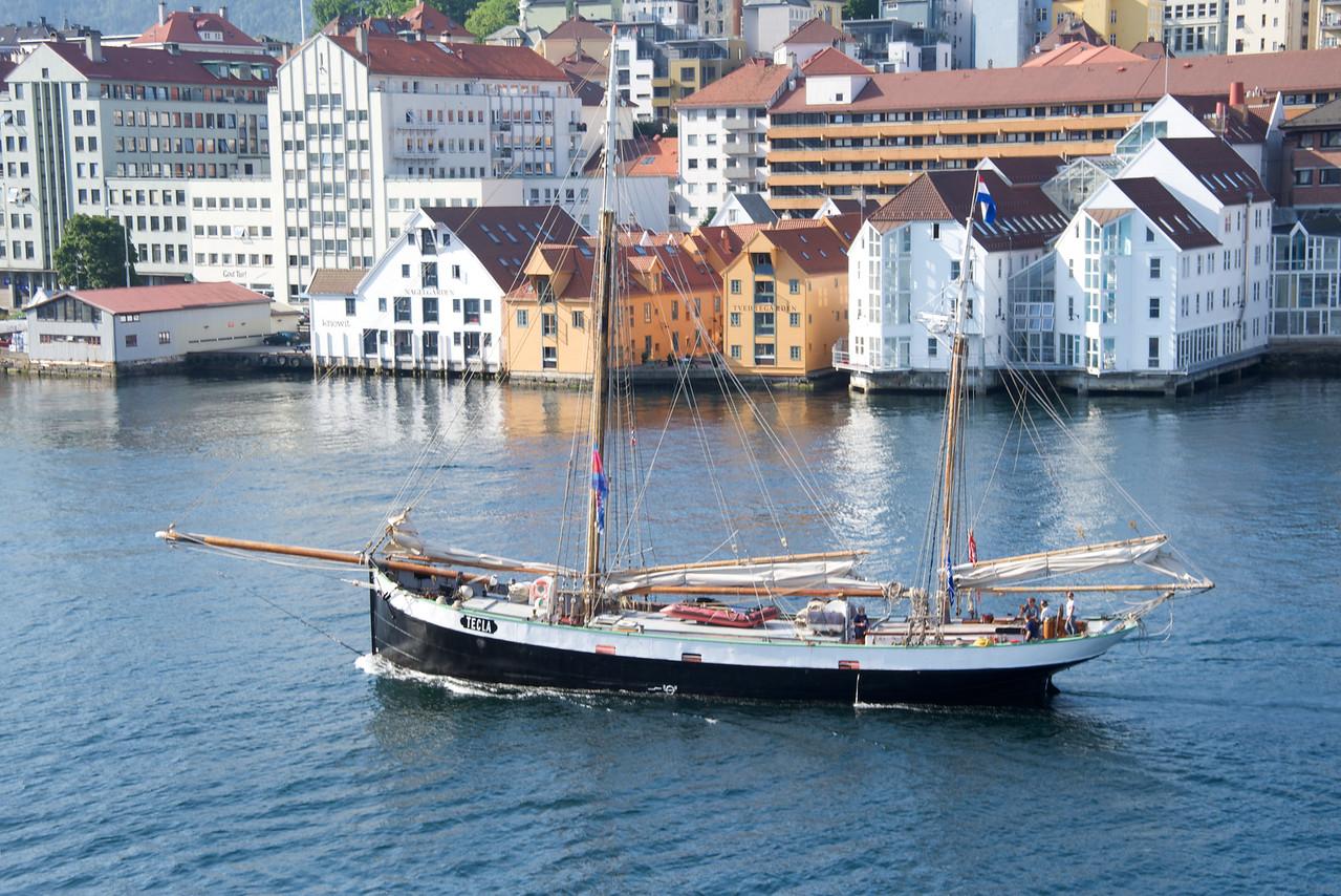 Tall Ship entering Bergen port