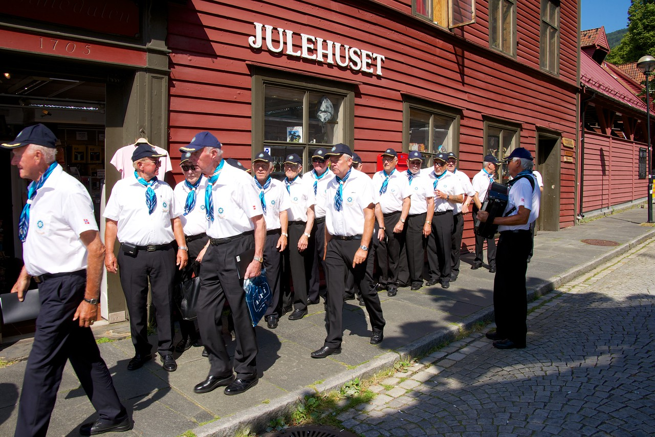 This men's singing group was performing at the Tall Ship's Festival