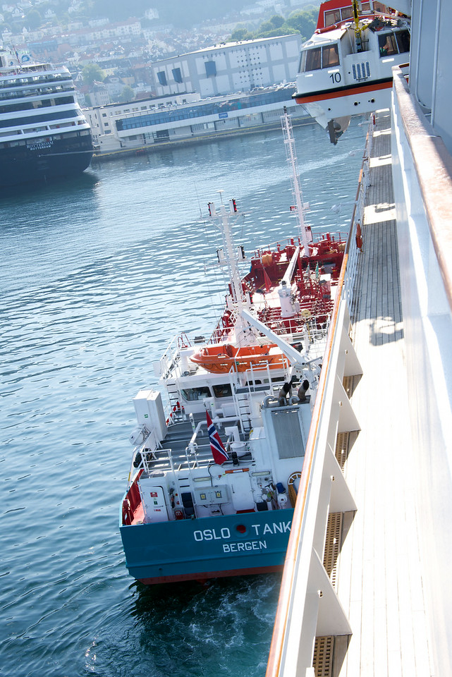 Security was also high because Crystal Symphony was refueling