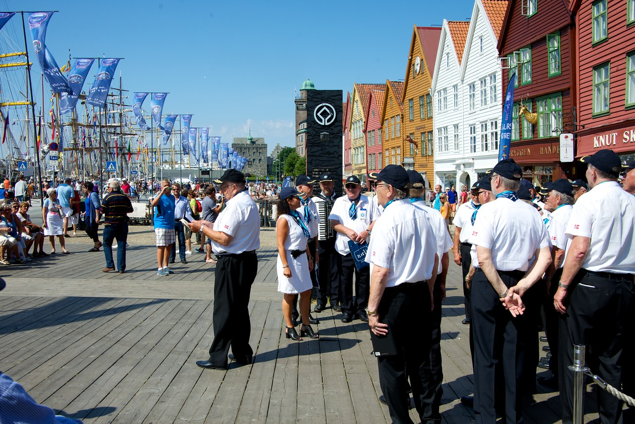 The entire Bryggen (Wharf) was closed off and opened to pedestrians for the festival