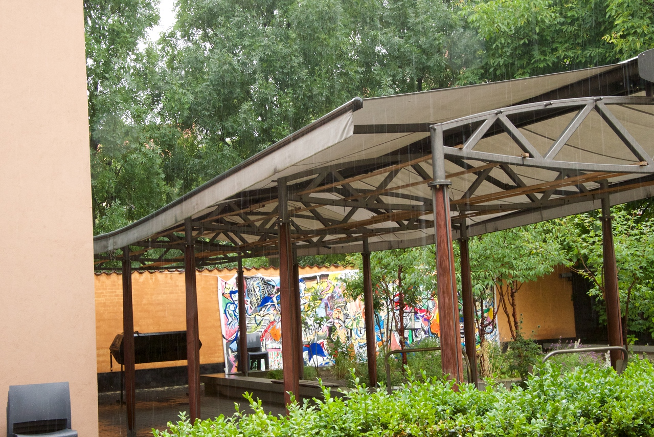 Outdoor Pavillon, part of the Jewish Community Center