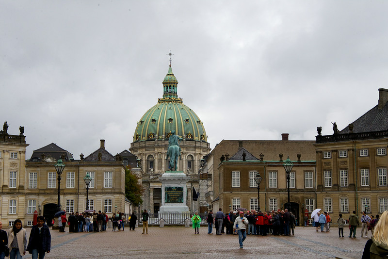 Amalienborg is the winter home of the Danish royal family, and is located in Copenhagen, Denmark