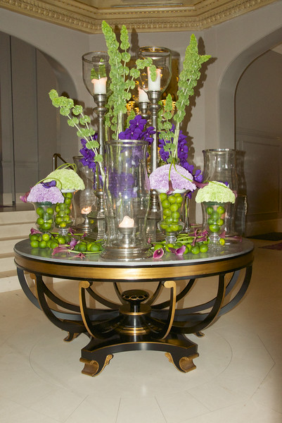 Flowers in Lobby at D'Angleterre