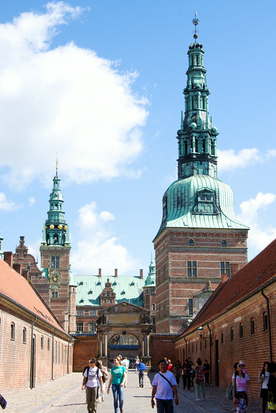 Frederiksborg Palace or Frederiksborg Castle was built as a royal residence for King Christian IV and is now a museum of national history