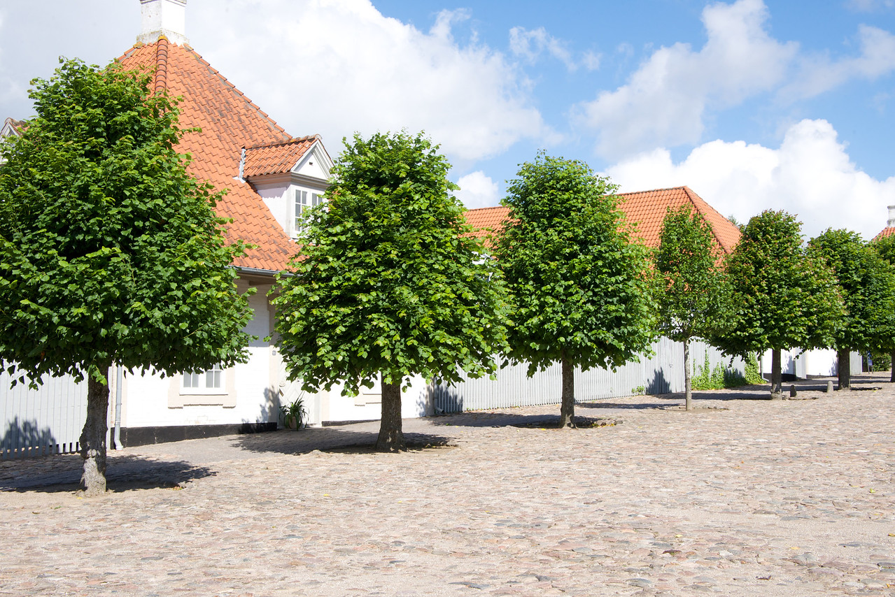 Homes where people who work at the Fredensborg Palace live