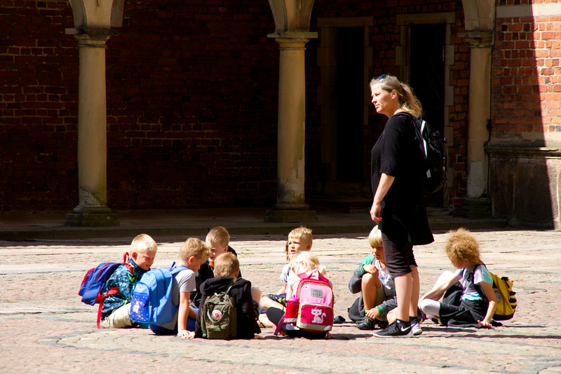 School group visiting Frederiksborg Palace