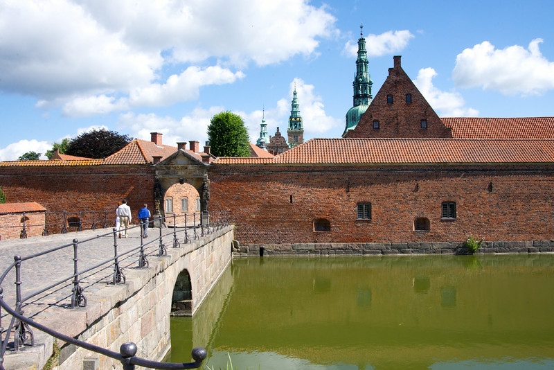 Frederiksborg Palace or Frederiksborg Castle is located on three small islands in the middle of Palace Lake