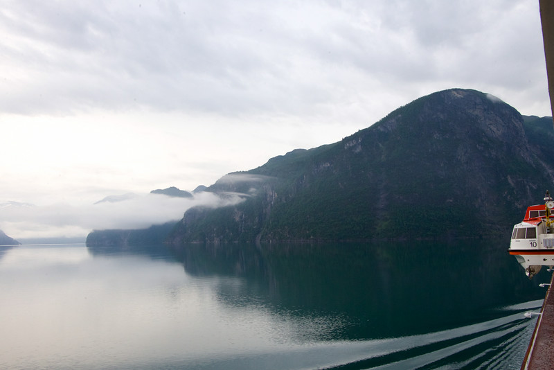 6:15am sailing the Fjord to Hellesylt.