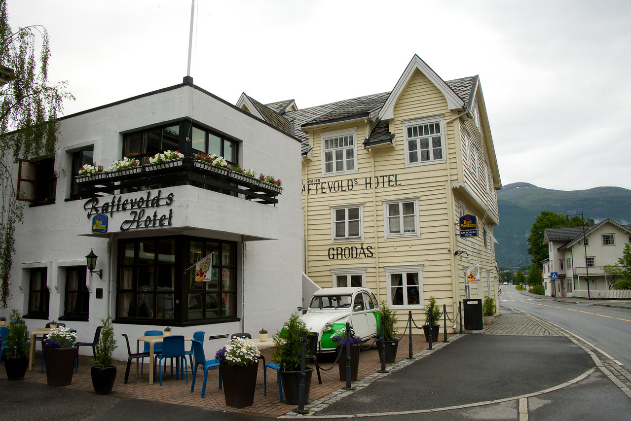 The Raftevolds Hotel built in 1867 and occupied by the Germans. It is a Best Western today.