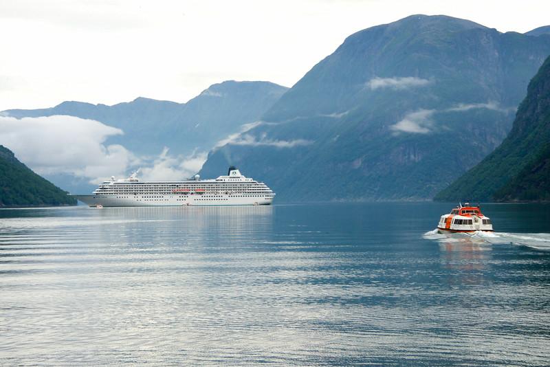 Hellesylt Looking Back At Ship
