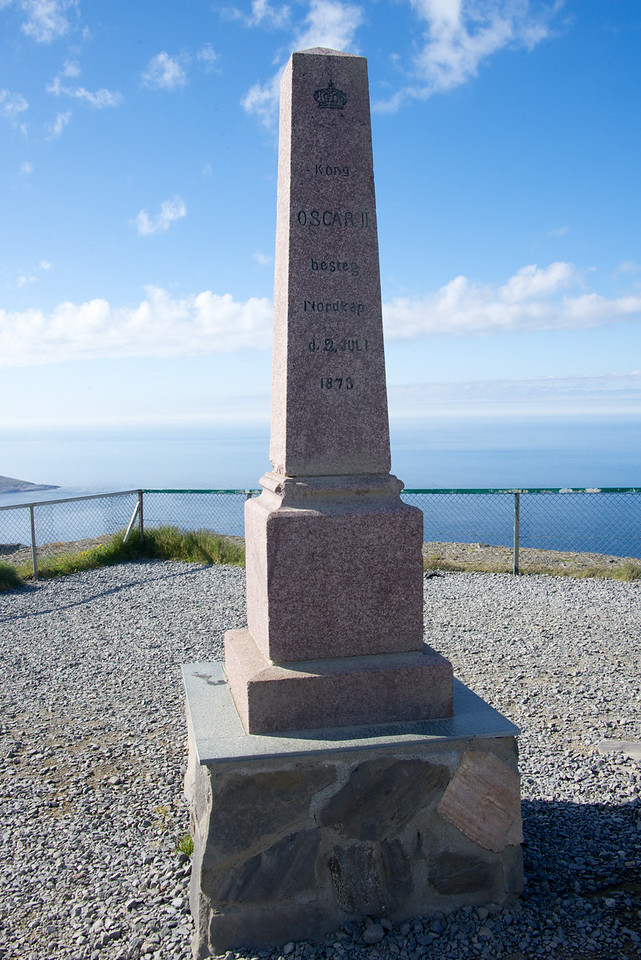 King Oscar II erected this monument at the outermost point of the North as a sign that the kingdom of Norway reached this point