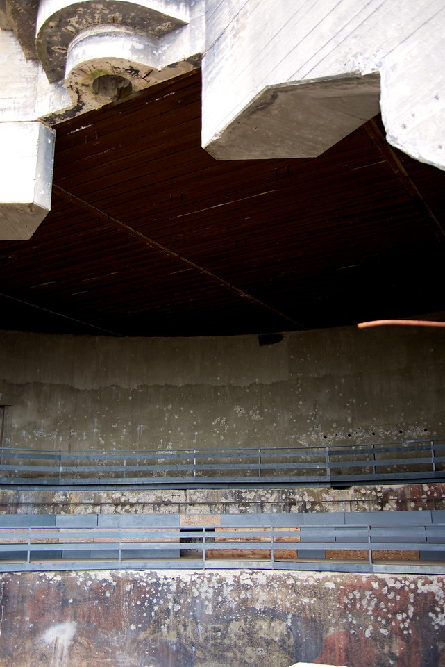 Interior of Casement has been used for concerts    notice grey seats
