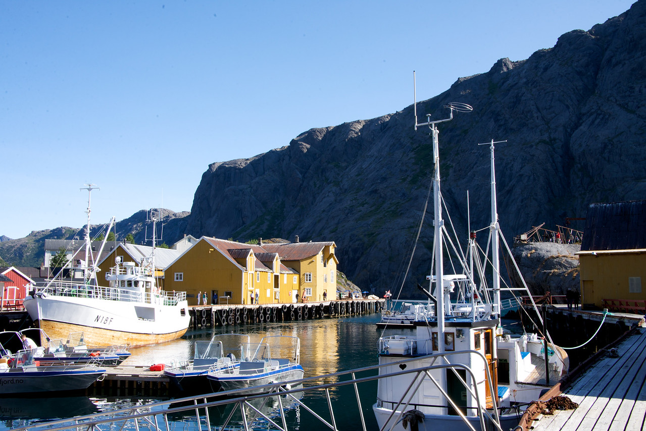 Part of the Nusfjord harbor today