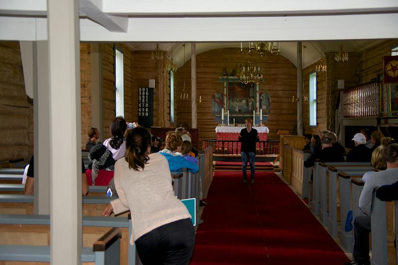 Inside Flakstad Kirke