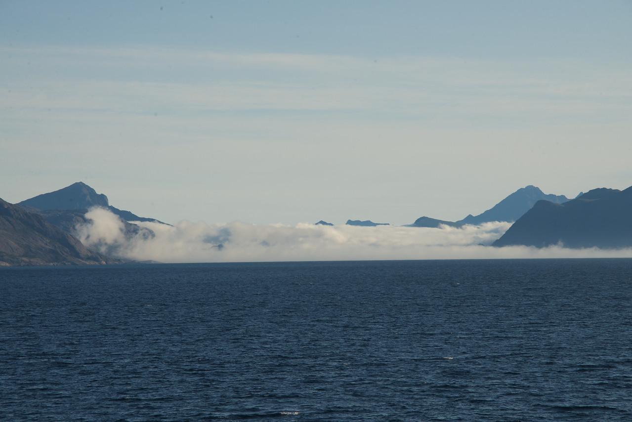 Fog looked like ice glaciers