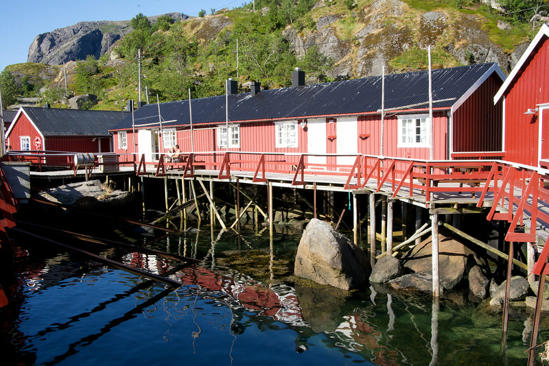 Red paint for the fishing houses was made by mixing animal blood and cod liver oil. The oil protected the wood against the very harsh weather conditions.