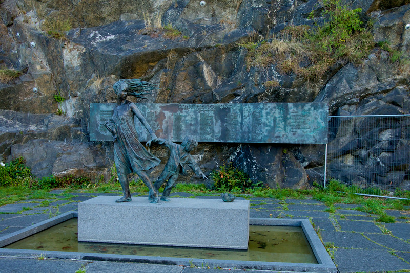 Monument to the people who drowned when the Scandinavian Star Ferry sank