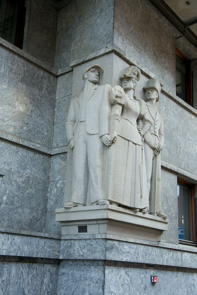 This is a memorial to the prostitutes that used to operate in the area of the current city hall