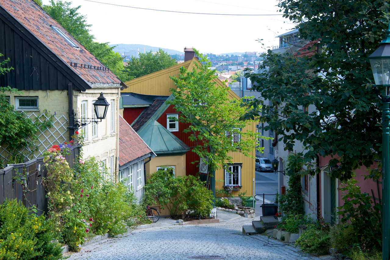 Damstredet was mostly built from 1810 to 1860, as part of the expansion of Oslo that begun at this time.