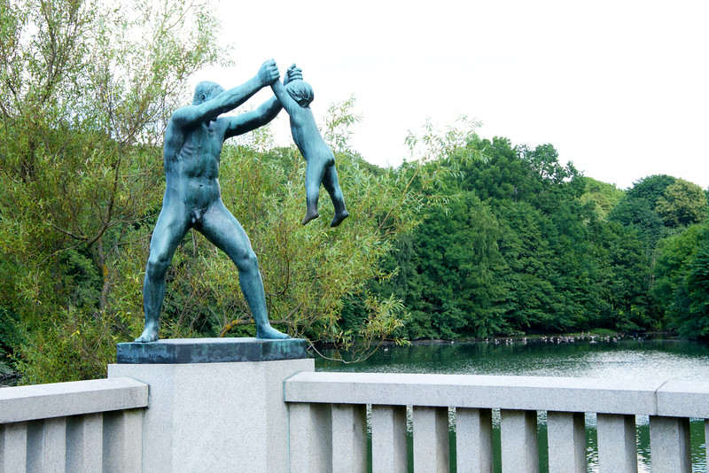 "Vigeland was one of the first artist to depict the ""father-child"" relationship"