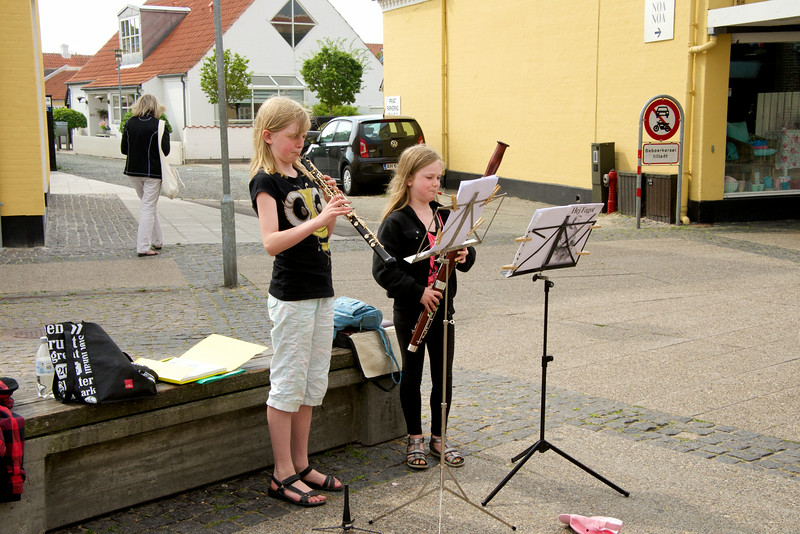 Rather young street musicians