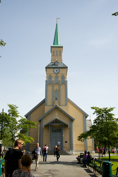 Luthern Church, the official church of Norway. This is an original wooden church.