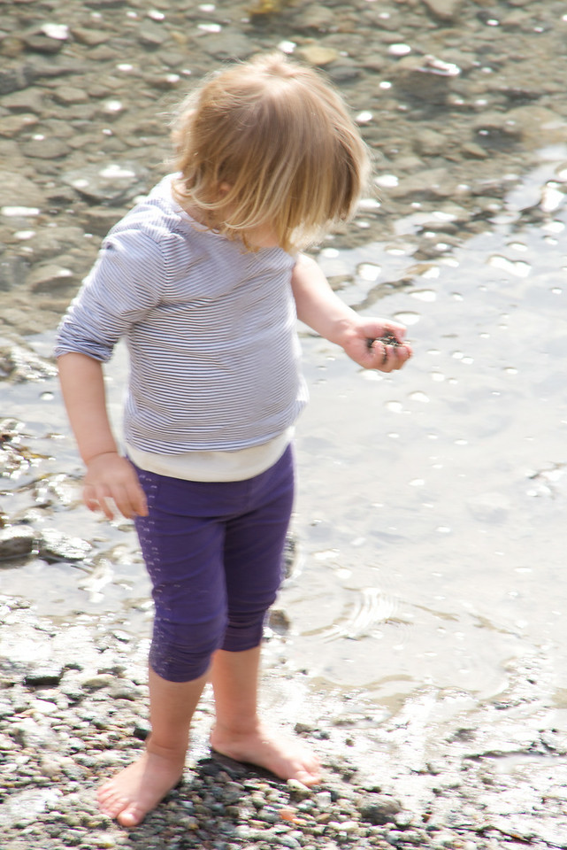 Girl Wading