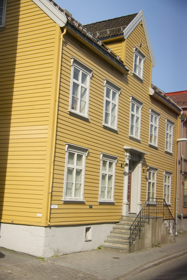 One of the oldest wood houses in Tromso. They used to be on stilts to deal with the weather (snow).