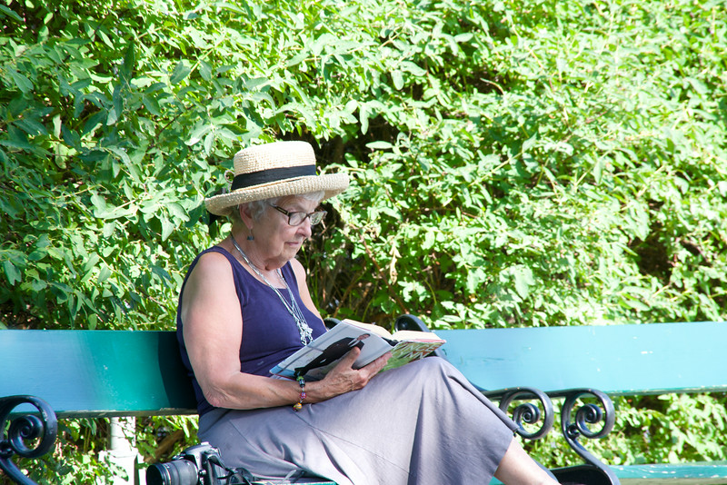 Reader in the park