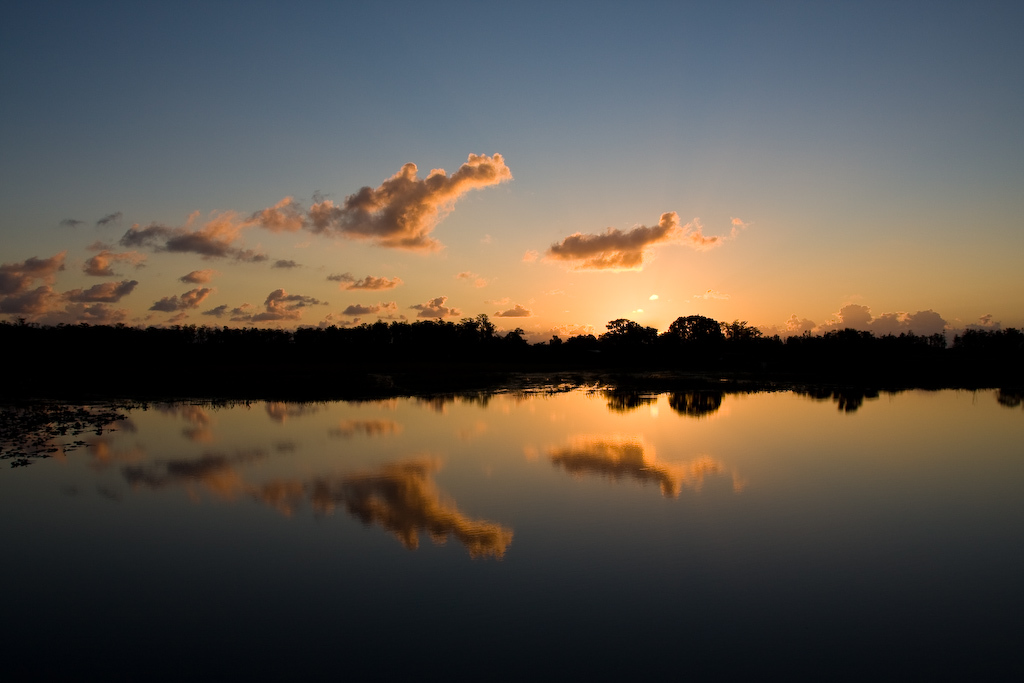 We're at the Loxahatchee National Wildlife Refuge just in time for a breathtaking sunrise.