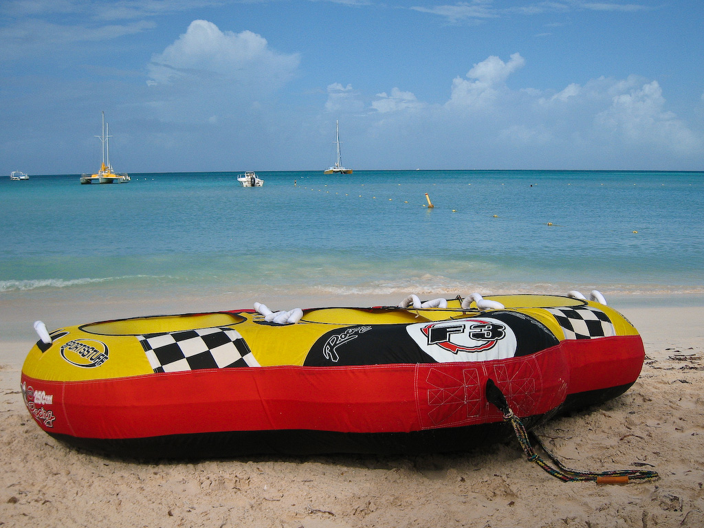 "One of the ""water toys"" available for rental at Palm Beach."