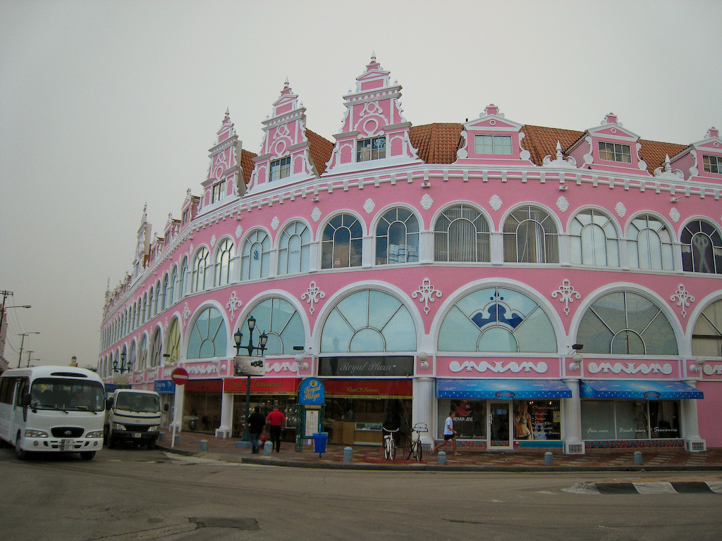 "Back in Oranjestad, I have an opportunity to see my ""wedding cake"" building again."