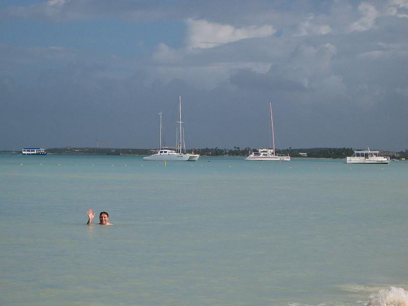 Mui swimming at Palm Beach.