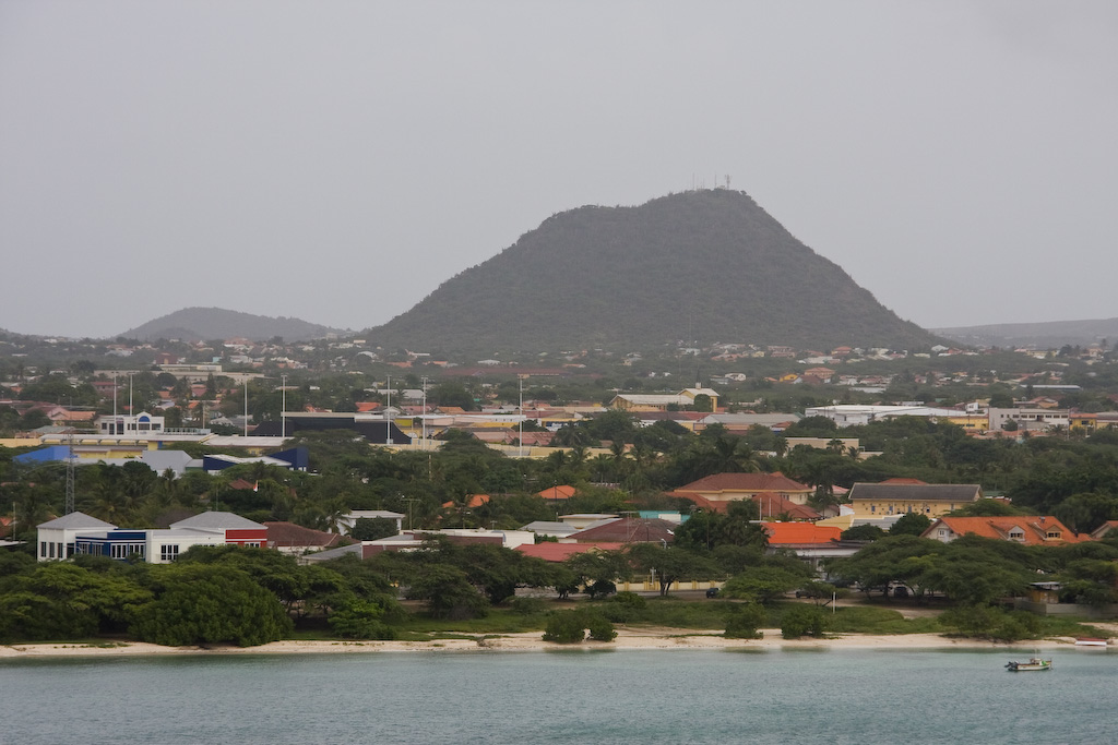 Hooiberg is a 541 feet high (165 m) volcanic formation. It is located almost in the center of Aruba and can be seen from virtually anywhere on the island.