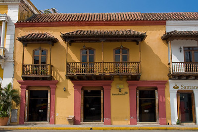 Another old building overlooking Plaza de la Aduana; it's now a branch of Bancolombia.