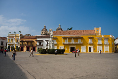 Plaza de la Aduana (Customs Square) inside the Walled City.