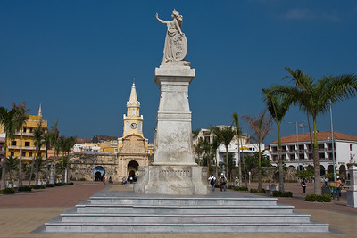 Monument to Independence and the Clock Tower.
