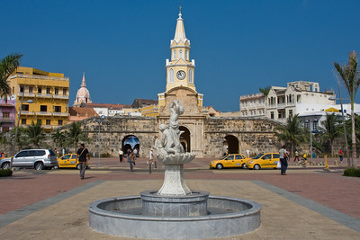 Torre del Reloj (Clock Tower) is the starting point for most walking tours of the Walled City.