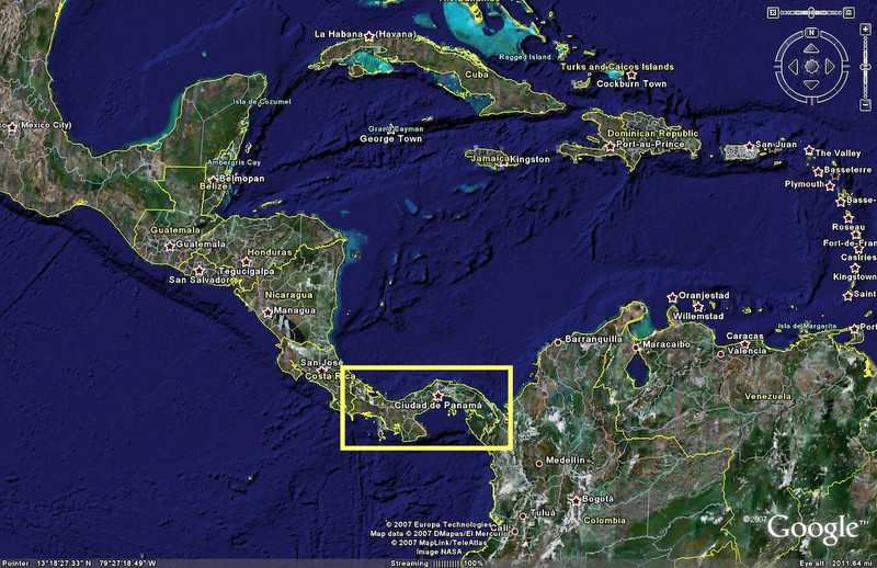 Dec 15 panama canal eenusa panama in relation to the rest of central america the coast of south america and gumiabroncs Choice Image