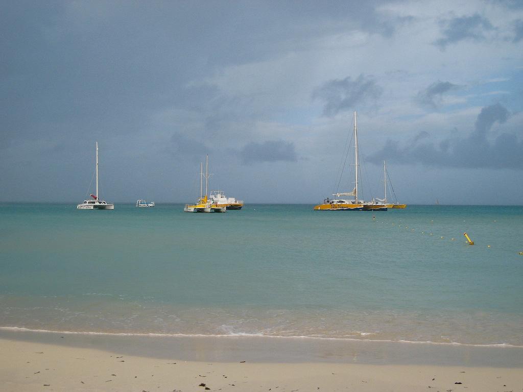 Palm Beach, Aruba:<br /> A rainy morning at Palm Beach.