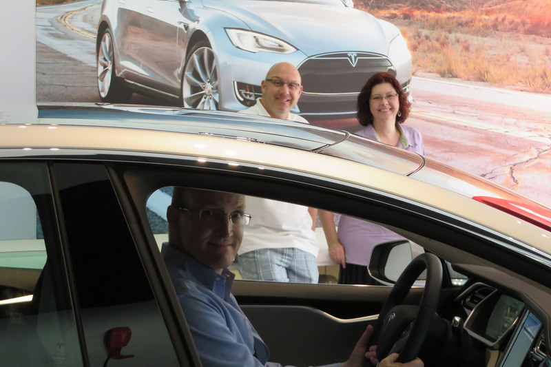 Wayne, Sheila, and I are trying to convince Ted to trade his Prius in on a Tesla.